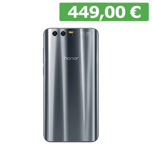 "HONOR 9 Display 5,2"" FHD Processore Octa Core 1,3GHz Dual Fotocamera 20+12 Mpx e frontale 8 Mpx con Selfie Flash Ram 3 GB Memoria 64 GB espandibile Batteria 3200 mAh"