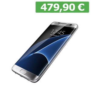 "GALAXY S7 EDGE Display 5,5"" QHD+sAMOLED Processore Octa Core Fotocamera 12 Mpx e frontale 5 Mpx Ram 4 GB Memoria 32 GB espandibile Resistente all'acqua e alla polvere Fingerprint"
